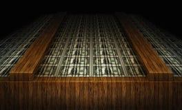 Blad van Verenigde Staten Één Dollarrekeningen Royalty-vrije Stock Afbeelding