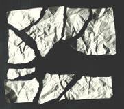 blad van witte verfrommelde gescheurde document textuurachtergrond Royalty-vrije Stock Foto