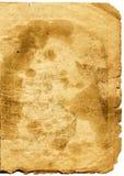 Blad van zeer oud document Royalty-vrije Stock Foto