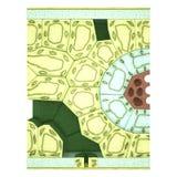 Bladavsnitt royaltyfri illustrationer