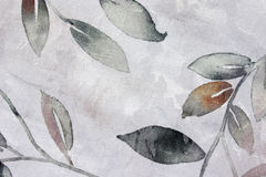 Bladdesign på linnetabelltorkduken Royaltyfri Bild