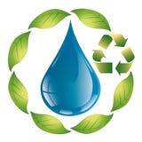 Bladdroppe - ekologiskt begrepp - logo Arkivbild