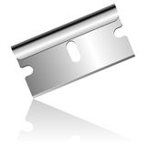 Blade. Stainless steel blade isolated over white background royalty free illustration