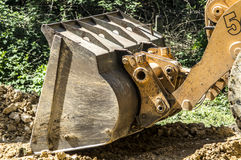 Blade of the bulldozer Stock Images
