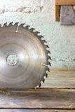 Blade in carpenter's shop Stock Photos