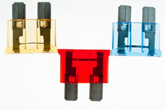 Blade Fuses Royalty Free Stock Photo
