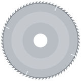 Blade. Grey saw sutter vector illustration