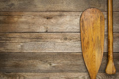 Blade and grip of canoe paddle Stock Images