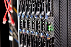 Blade server closeup server chassis Stock Photography