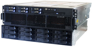 Blade server and system storage Royalty Free Stock Photos