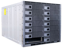 Blade servers on white Royalty Free Stock Photography