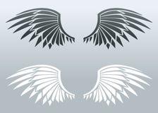 Blade wings. Set of vector blade wings Stock Photo