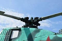 Bladen av en helikopter Royaltyfri Fotografi