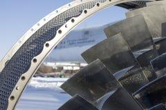 Bladen van de turbinemotor in het Museum van de Oekraïne Stock Afbeelding