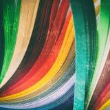 Bladen van Gekleurd Document stock foto's