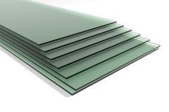 Bladen van groen aangemaakt duidelijk vlotterglas royalty-vrije stock afbeeldingen