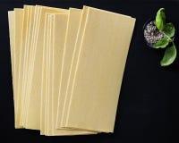 Bladen van Lasagna royalty-vrije stock afbeeldingen