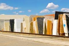Bladen van marmer Stock Foto's