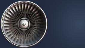 Bladen van turbine, loopable motieachtergrond stock footage
