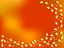 Bladeren in de herfst Stock Foto
