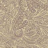 Bladeren en bloemen naadloos patroon Stock Afbeeldingen