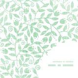 Bladeren en wervelingen het textielpatroon van de kaderhoek Royalty-vrije Stock Foto