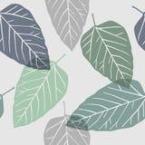 Bladeren - naadloos patroon Stock Afbeeldingen
