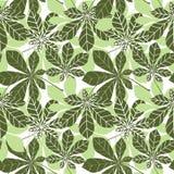 Bladeren naadloze patern De textuur van de de lenteaard in retro japanse Stock Foto