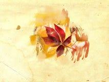 Bladeren op grungeachtergrond vector illustratie