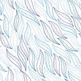 Bladeren op witte vector naadloze abstracte hand-drawn als achtergrond Royalty-vrije Stock Foto's