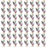 Bladeren in rijenpatroon Royalty-vrije Stock Foto