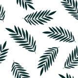 Bladeren tropisch naadloos patroon Stock Fotografie
