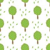 Bladeren van groene van het de zomerblad van het bomen naadloze patroon vector de installatieachtergrond vector illustratie