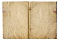 Bladeren van oud schoolnotitieboekje Stock Foto
