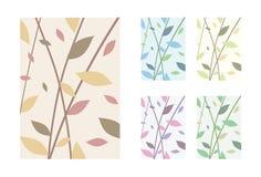 Bladeren - Vector Geplaatste Achtergronden Stock Foto