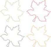 Bladeren vier kleuren Stock Afbeeldingen