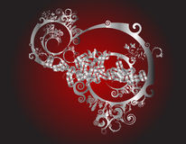 Blades. Artist vector illustration with blades and floral elements Stock Photography