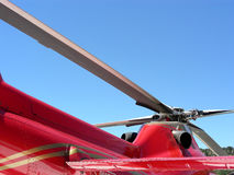 Blades. On medical evacuation rescue helicopter Stock Images
