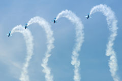Blades aerobatic display Royalty Free Stock Photos