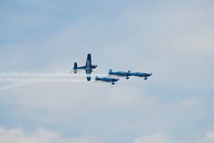 The Blades aerobatic display team Royalty Free Stock Photo
