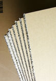 Blades of cardboard Royalty Free Stock Photography