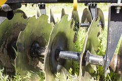 Blades of a Disc Harrow Royalty Free Stock Photos