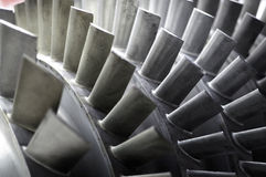 Blades of a Jet Engine Royalty Free Stock Photo