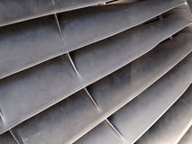 Blades of a jet engine Stock Images