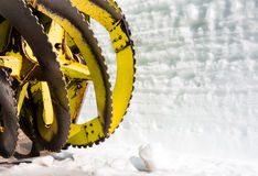 Blades on a snow removal vehicle Royalty Free Stock Photo
