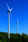 Blades wind to create clean energy Stock Image