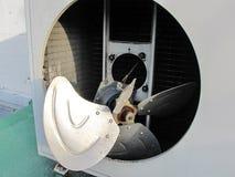 Bladet av kompressorn var skada och sprickan som var industriella Royaltyfria Foton