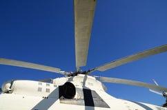 Bladet & x28en; screw& x29; av den vita helikoptern Fotografering för Bildbyråer