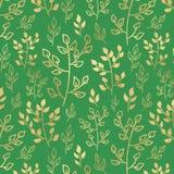 Bladgouden op groene achtergrond Royalty-vrije Stock Fotografie