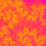 Bladgouden op Oranje Samenvatting Royalty-vrije Stock Afbeeldingen
